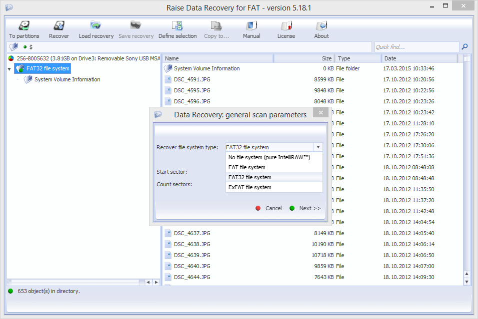 Raise Data Recovery for FAT/FAT32