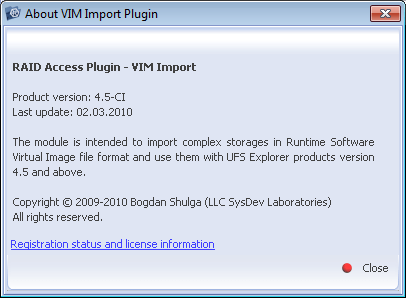RAID Access Plugin – VIM Import