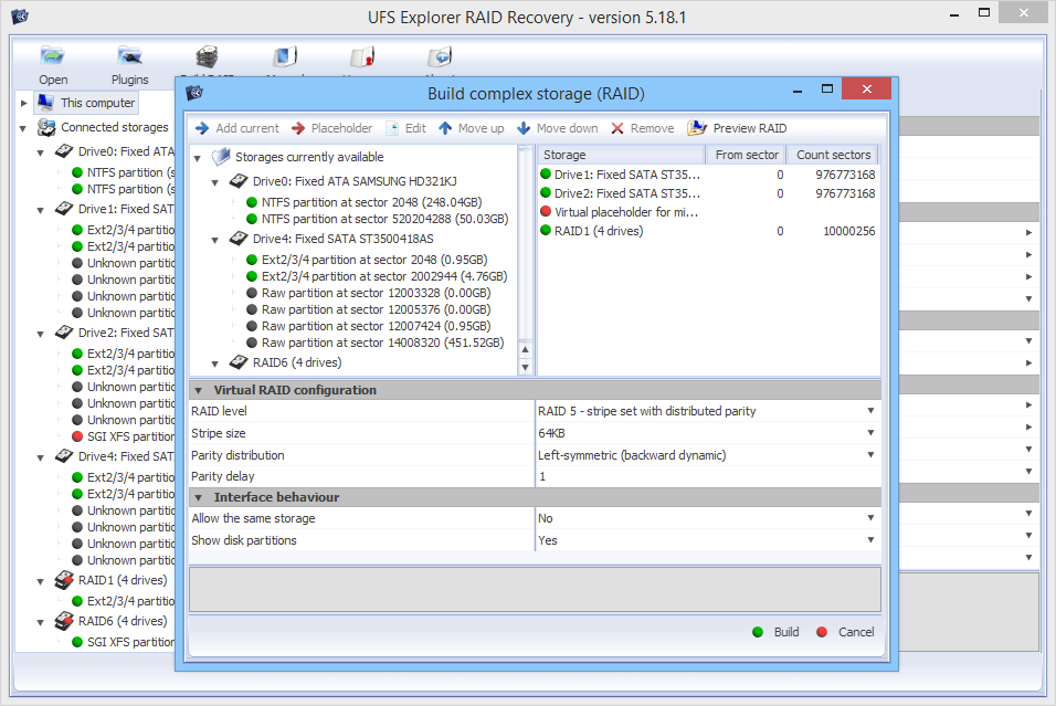 UFS Explorer RAID Recovery (for Windows) version 5
