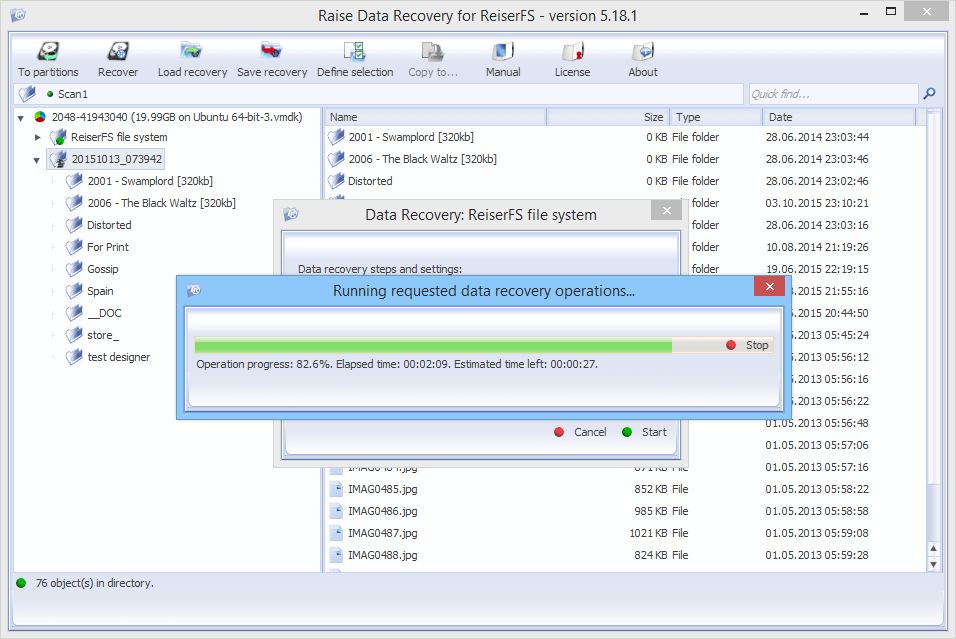 Raise Data Recovery for ReiserFS
